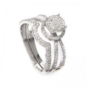 14K White Gold Diamond Bridal Set BR1396W