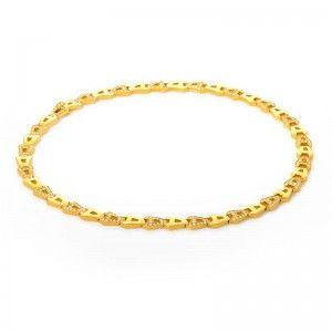 Asprey 18K Yellow Gold & Diamond Chain Link Necklace