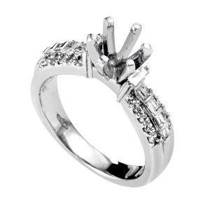 ~.40ct Platinum and Diamond Engagement Ring Mounting