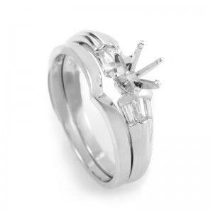Platinum Diamond Bridal Mounting Set MFC01-041213