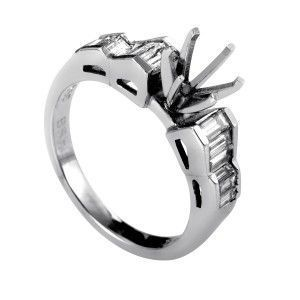 ~.78ct Platinum and Diamond Engagement Ring Mounting