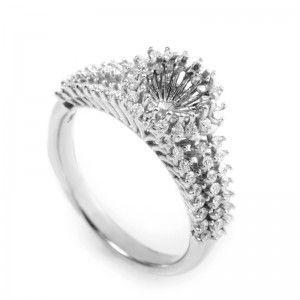 14K White Gold Diamond Engagement Ring Mounting MFC32-041213