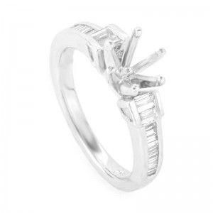 ~.60ct Platinum and Diamond Engagement Ring Mounting