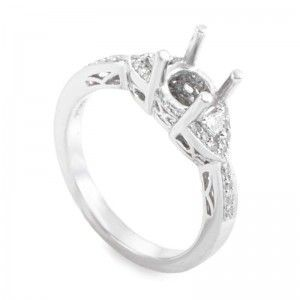 ~.22ct Platinum and Diamond Engagement Ring Mounting