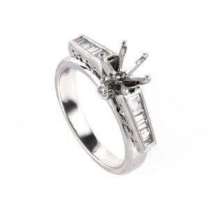 ~.33ct Platinum and Diamond Engagement Ring Mounting