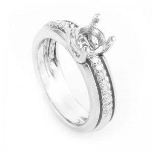 Jose Hess ~.60ct Platinum and Diamond Pave Engagement Ring Mounting