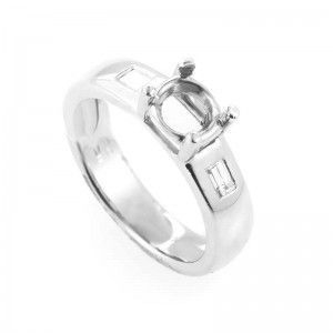 Jose Hess Platinum and Diamond Engagement Ring Mounting