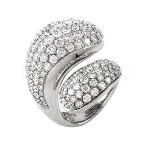 de Grisogono Contrario Full Diamond White Gold Ring