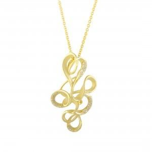 Annamaria Cammilli Onda 18K Yellow Gold Diamond Pendant Necklace