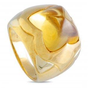 Bvlgari Piramide 18K Yellow Gold Citrine Ring