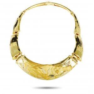 Carrera y Carrera 18K Yellow Gold Diamond Panther Necklace