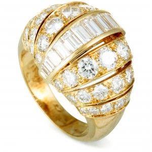 Cartier 18K Yellow Gold Diamond Bombe Ring