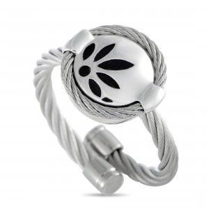 Charriol Bamboo Stainless Steel Round Cable Ring