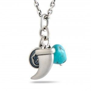 Charriol Kucha Stainless Steel Turquoise and Horn Pendant Long Necklace