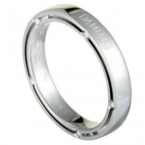 Damiani D.Side Brad Pitt 18K White Gold 10-Diamond Band Ring
