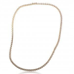 Fred of Paris Pain De Sucre Célébration 18K Rose Gold Diamond Strand Collar Necklace