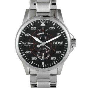 Hugo Boss Aviator Casual Sport Men's Watch Black 1513518