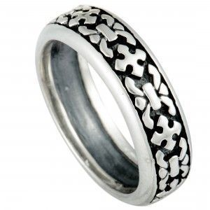 Scott Kay Silver Cross Band Ring