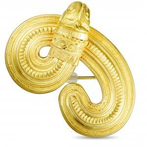 Ilias Lalaounis 18K Yellow Gold Lion's Head Brooch/Slider