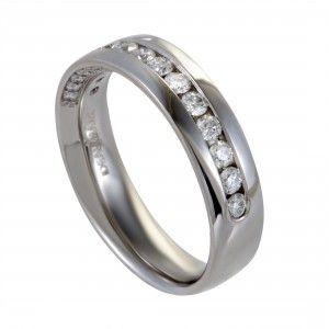 ~1ct Men's Platinum and Diamond Wedding Band Ring