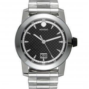Movado Vizio Black Dial Watch 607050