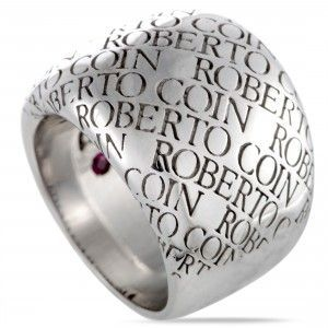 Roberto Coin 18K White Gold Signature Ring