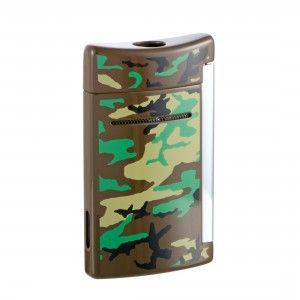 S.T. Dupont Minijet Woodland Camo Torch Lighter 010087