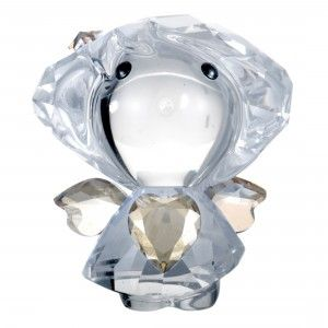 Swarovski Clear and Golden Crystal Angel Figurine 5135868