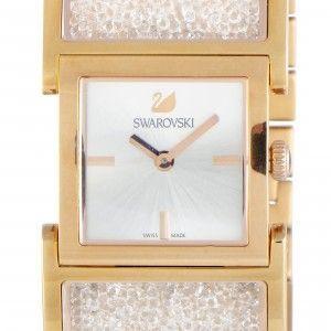 Swarovski Crystalline Bangle Rose Gold PDV Coated Watch 5027138