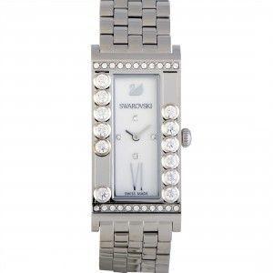 Swarovski Lovely Crystals Square White Watch  5096682