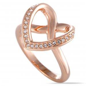 Swarovski Cupidon Rose Gold Plated Crystal Ring