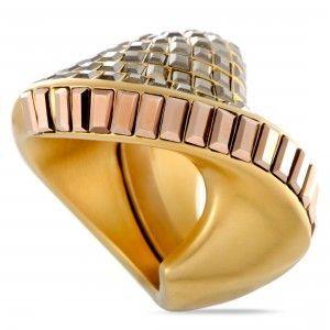Swarovski Yellow Gold Plated Metallic Crystal Film Ring 5237788