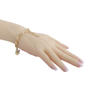 823e98b70613 Louis Vuitton Idylle Blossom 18K Gold Diamond and Peridot Charm Bracelet