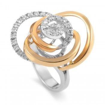 Damiani Bocciolo 18K Multi-Tone Gold Diamond Ring 20020633